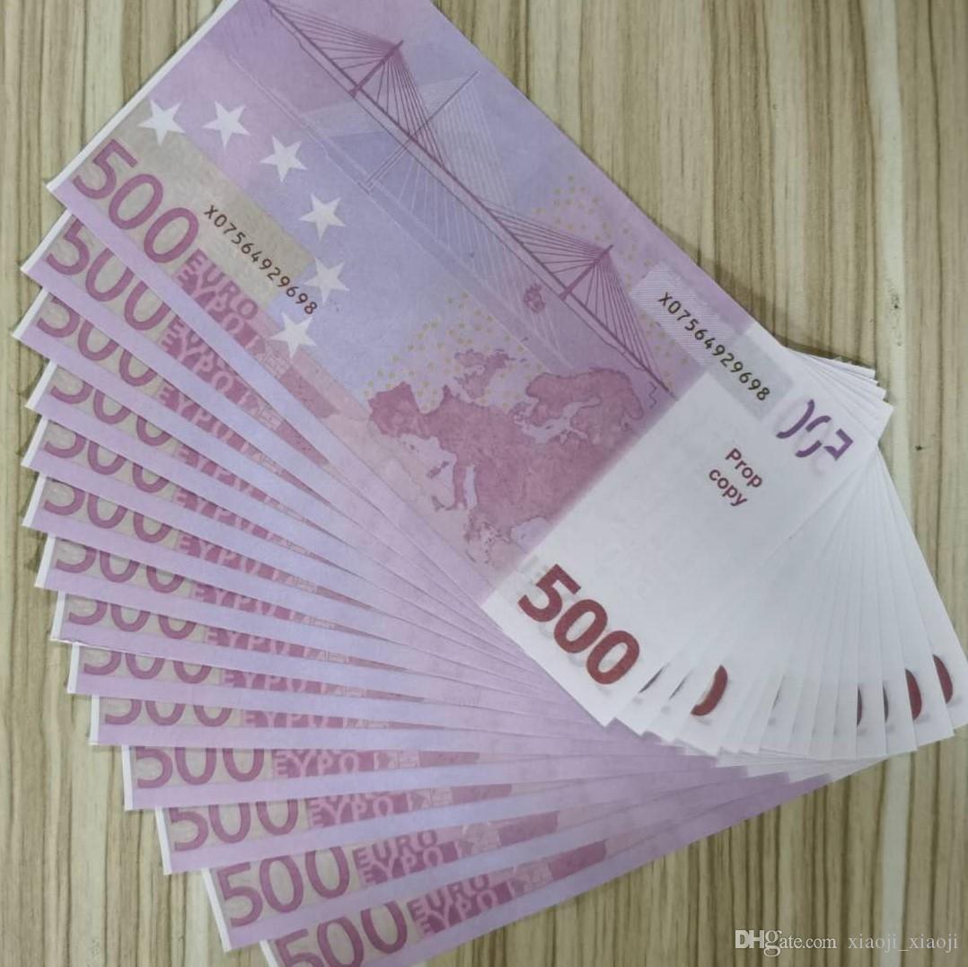Jouets Money Festive Festive Prop Movie Money Billet Billet d'argent Cadeaux Faux Paper Party Jeux Jeux Jouets Collection et 02 Euro WSEXU