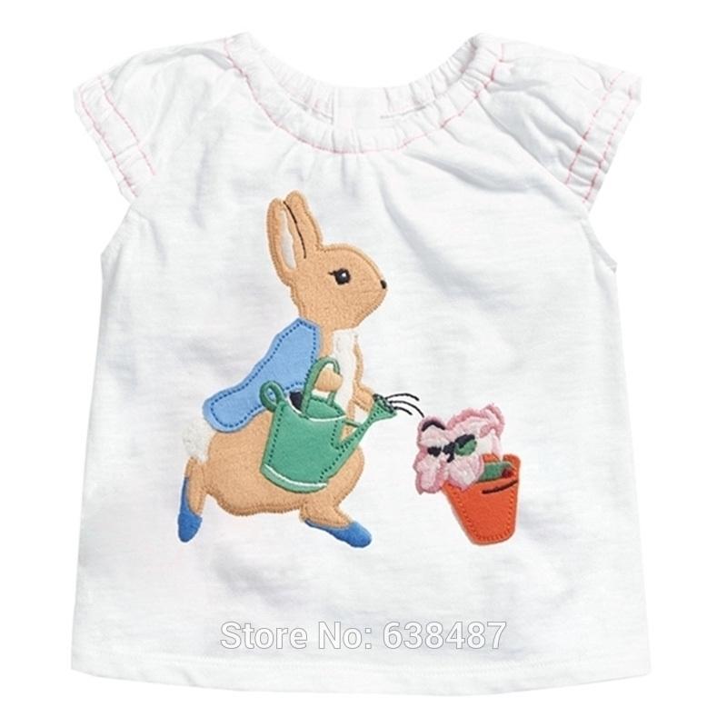 100% комбинированная хлопчатобумажная детская одежда бренда ребенка bebe детей белая футболка тройник с коротким рукавом блузки девушки кролики подруги нижнее белье Y200409