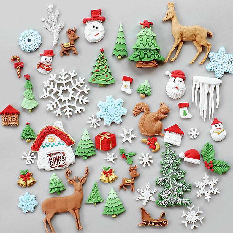 Bell Schneeflocke Baum Weihnachtsmann Sugarcraft Fondant Weihnachten Kuchen Formenform Für die Küche Backen Kuchen Dekorieren Werkzeuge
