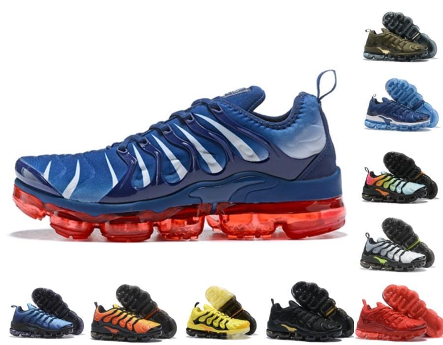 2020 новый TN PLUS кроссовки для мужчин Женщины Royal Smokey Mauve String Colorways Metallic Triple White Black Comped Trainers Спортивные кроссовки