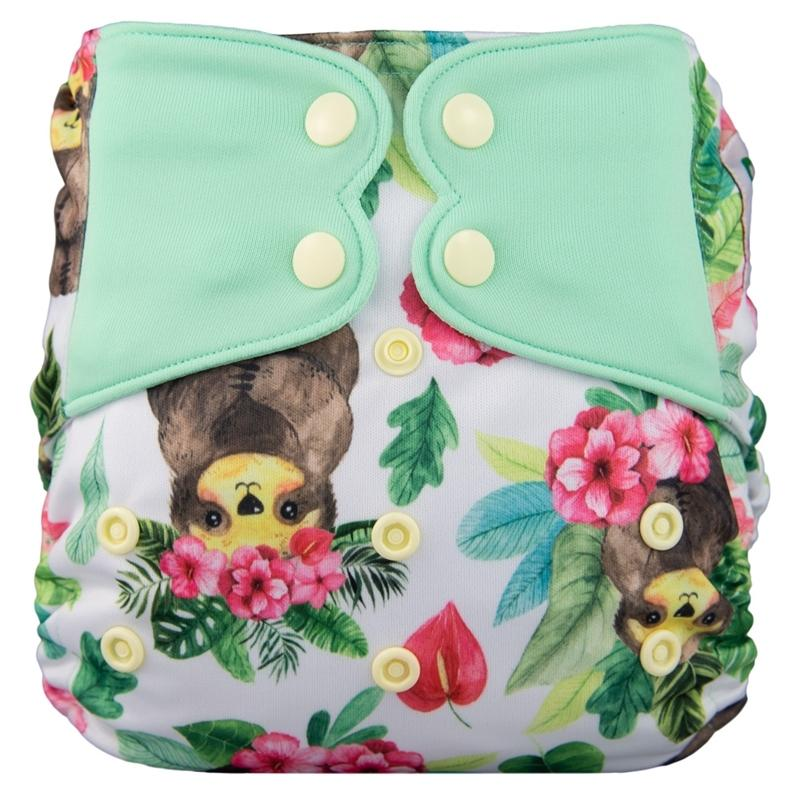 Elf Diaper New AIO High Quality Diaper with Sewed in Insert Pocket Diaper Snap Cloth 201209