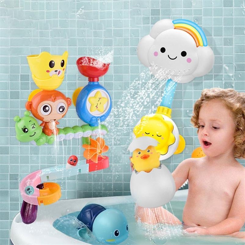Baby cartoon monkey klassische dusche bad spielzeug tier starfish streuen spielzeug badezimmer schwimmen badedusche pädagogische kind spielzeug 201216