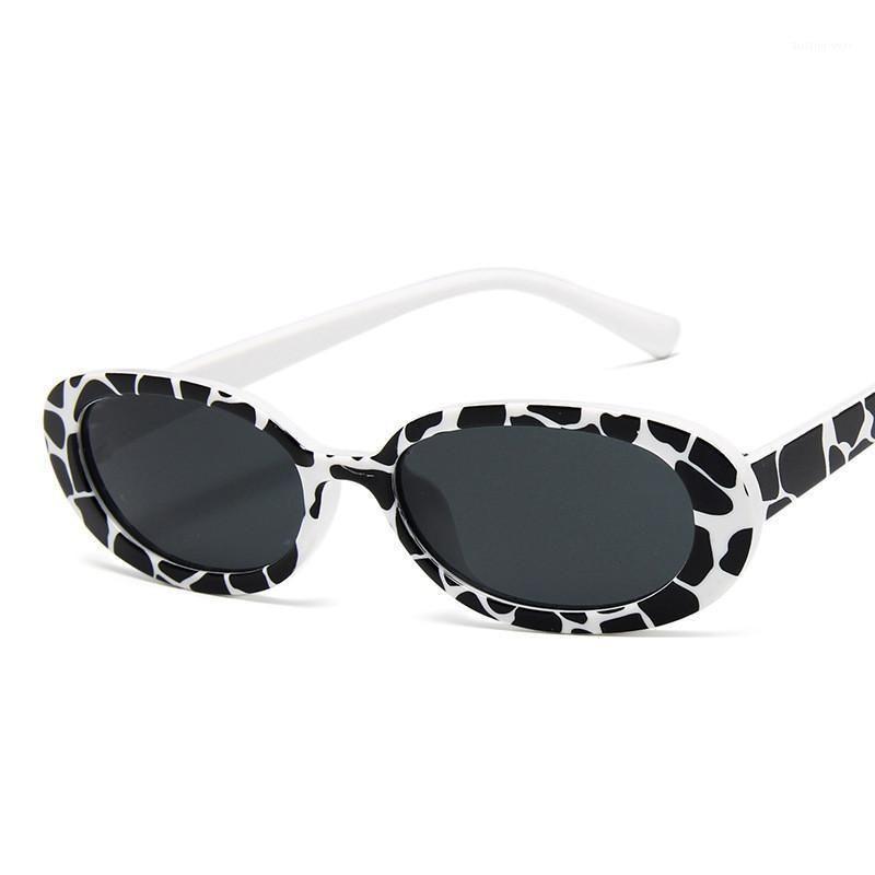 Мода корова круглые солнцезащитные очки для женщин розовый круглый тонированный цвет объектив милые женщины солнцезащитные очки сексуальные летние солнцезащитные очки очки1