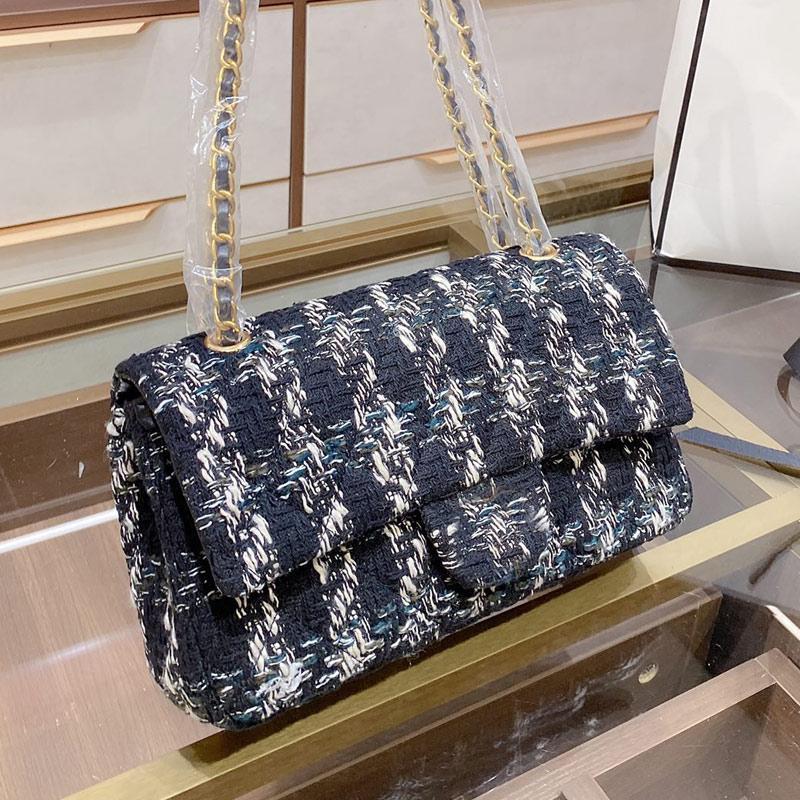 Бесплатная вязание Yisykiy Woolen Womens Bag Sage Bag Bag продал подмышечное покрытие Hot Quality Pheck High Crossbody Ручная сумка Ткань цепь LTQFC LVBXM