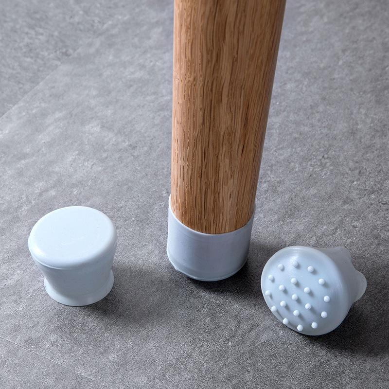 الجدول كرسي الساق حصيرة سيليكون عدم الانزلاق الجدول كرسي الساق قبعات حماية القدم أسفل وسادات حماة خشبية الطابق توصيل في 170 K2