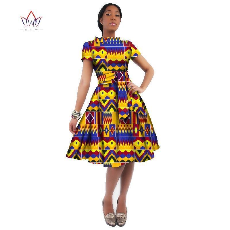 파티 드레스 여성을위한 아프리카 드레스 아프리카 왁스 인쇄 Dashiki Plus 크기 스타일 의류 사무실 WY082