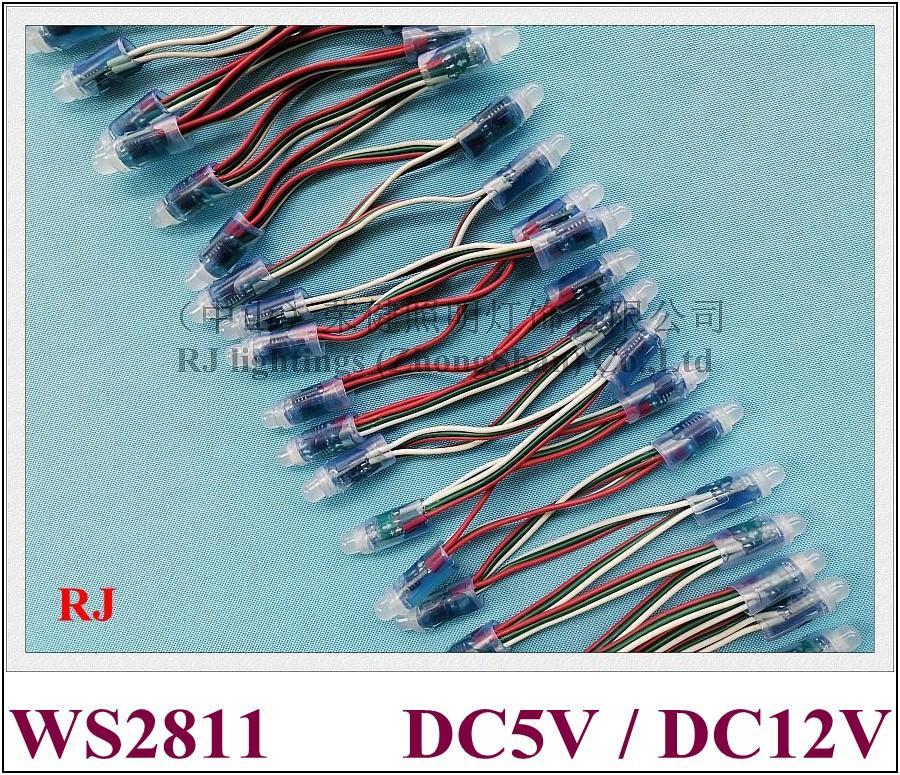 Wodoodporna IP67 WS 2811 Pełny kolor LED Pixel Light Moduł LED Exposed Light Ciąg do znaków Listów PVC DC5V / DC12V 0,3W WS2811 CE