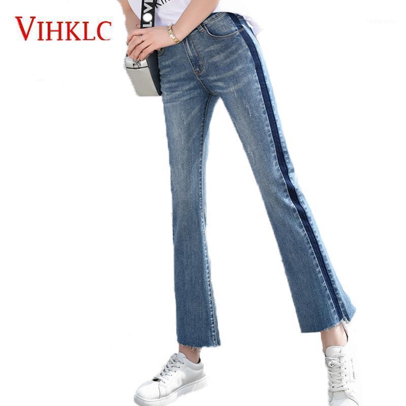 Широкая нога джинсы женская весна осень тонкий абзац девять брюк 2020 новая корейская версия высокой талии свободные тонкие джинсы горячие W231