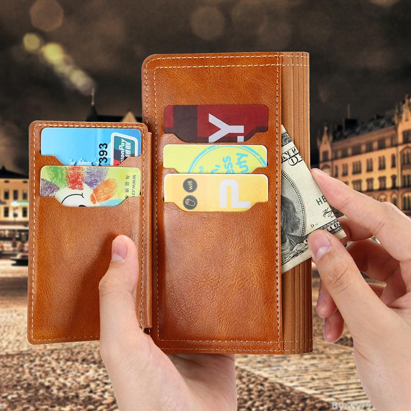 Caja de teléfono de la tarjeta de la cartera con cremallera para iPhone12PRO 11pro MAX 7 8 XS Max XR Funda telefónica para Samsung S20 S10 WJJ