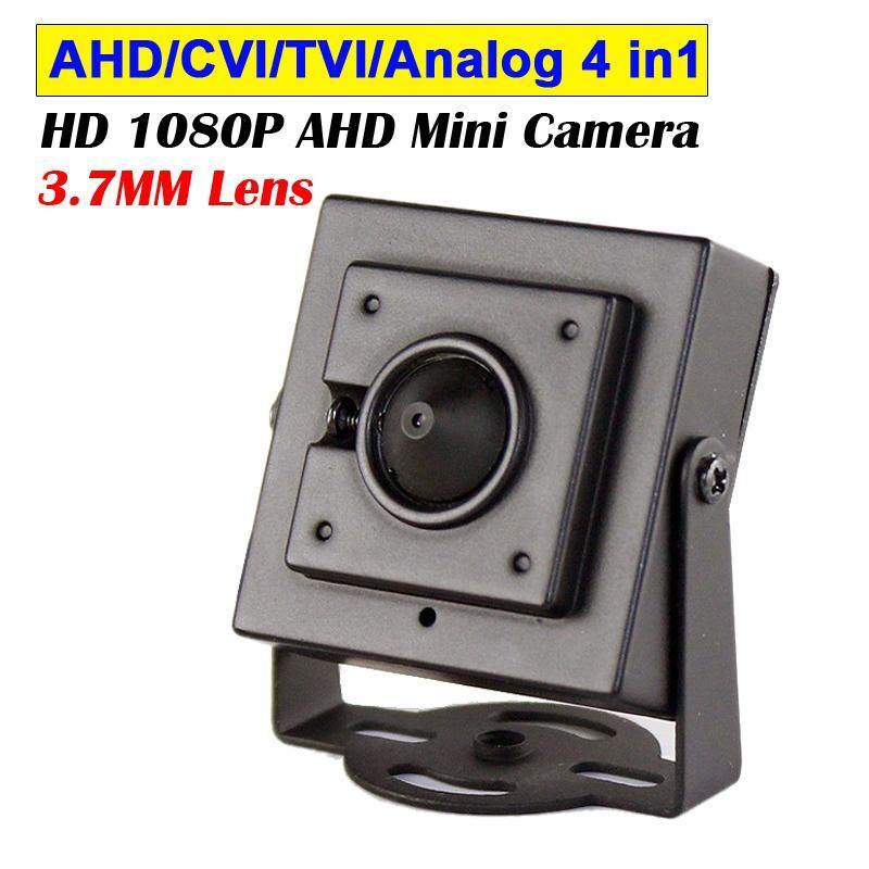 HD 2MP AHD Mini Mini Caméra 1080P * 1920 CCTV Caméra de CCTV 3.7mm Corps métallique AHD / CVI / TVI / Analog 4 In1 Mini CCTV Sécurité