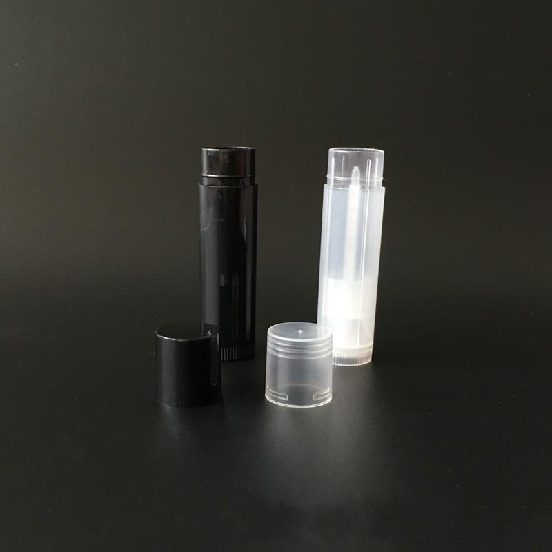5g Kozmetik Boş Chapstick Dudak Parlatıcısı Ruj Balsamı Tüp ve Kapaklar Konteyner Siyah Beyaz Temizle Renk EWF1227 172 K2