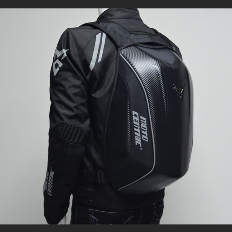 Fibra de Carbono Mochilas Homem Motocicleta Homens Capacete Bagpack Saco Mochila Mesa Mens Impermeável Laptop Saco Bag Mochila Mujer Travel Xbmgg