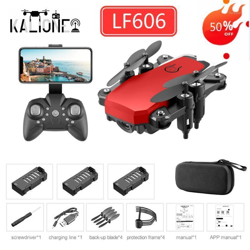 LF606 Mini Drone Wi-Fi FPV с камерой 4K HD следуйте высоту HOLD 3D Flips RC вертолет Pocket Quadcopter подарок для детей1
