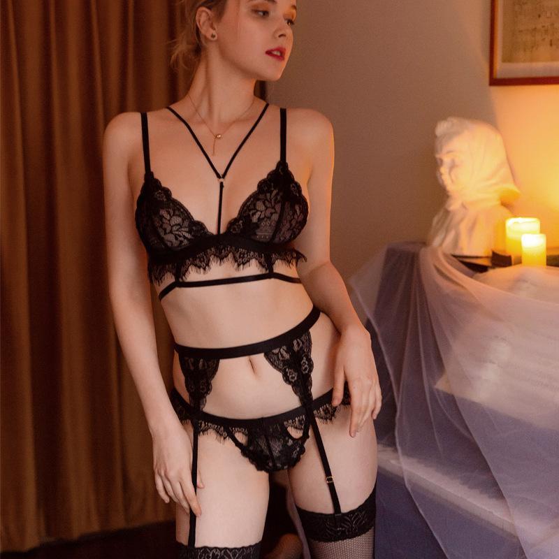 3шт Sexy Эротическое Прозрачный Ночное бюстгальтер женщин Подвязки Нижнее белье Бикини Set Exotic Apparel костюмы Porno Intimates Белье