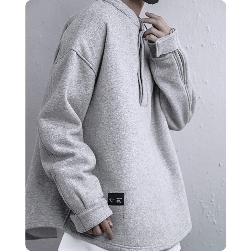 Sudaderas con capucha para hombre Sudaderas Japonés Harajuku Cuello Personal Pullover Streetwear Sweatshirt Oversized Hiphop Flow Cómodo Michalkova