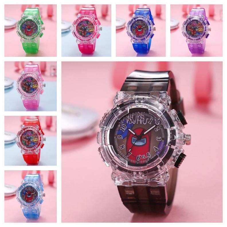 Игра стиль светодиодные часы дети мальчик девочек мультфильм светящиеся часы модные наручные часы аналоговые наручные часы браслет новых дизайнер часов E121407