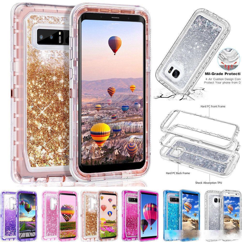Für Samsung Galaxy S10 Galaxy S10 S10E S10 Lite Phone Case IQUID Quicksand Cryatal Transparent Roboter Case Rüstung Ganzkörperabdeckung Telefon Hüllen