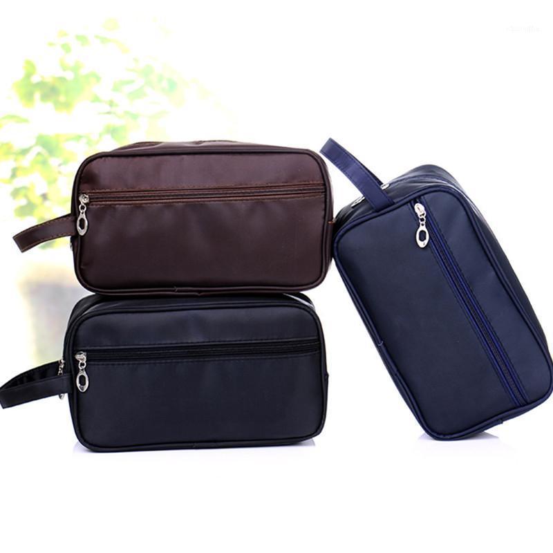 أكياس التجميل الحالات بسيطة للماء أدوات الزينة أطقم الرجال النساء غسل حقيبة القبول حزمة السفر pouch1