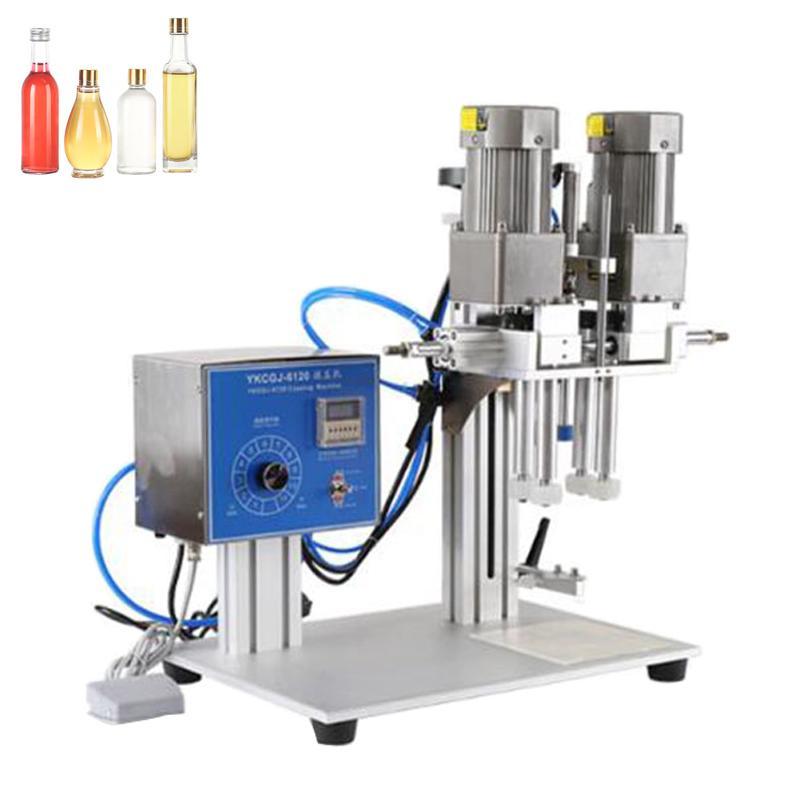 Máquina de captura de botellas de bebidas automáticas de escritorio vendedor caliente, máquina de tapón y sellado, máquina de descarga de gotero de cristal