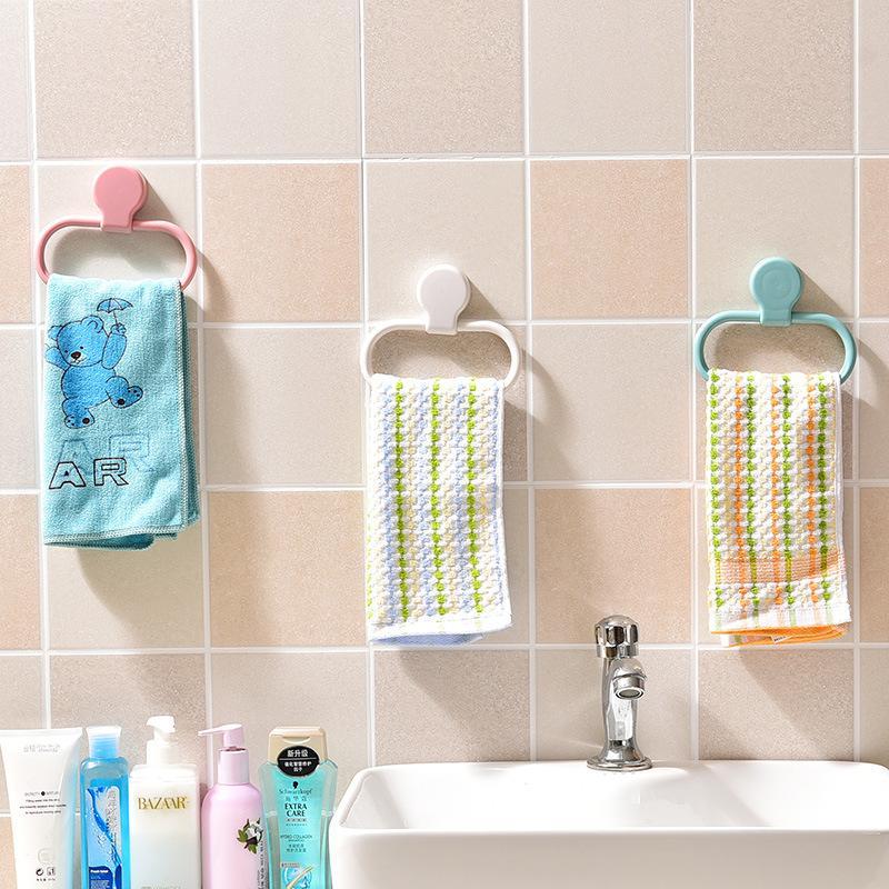 Ringviskose Handtuch Pylons Haushalt Kein Spurnagel frei Wasserdichte Handtücher Hängende Rack Badezimmer Liefert 4 Farbe Option 2 7xr J2