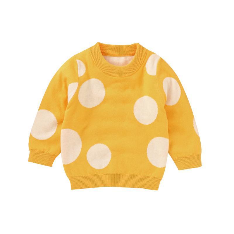 Herbst Winter Infant Neugeborenen Kind Baby Mädchen Pullover Langarm Pullover Polka Dot Print Strick Warme Pullover Tops Kleidung