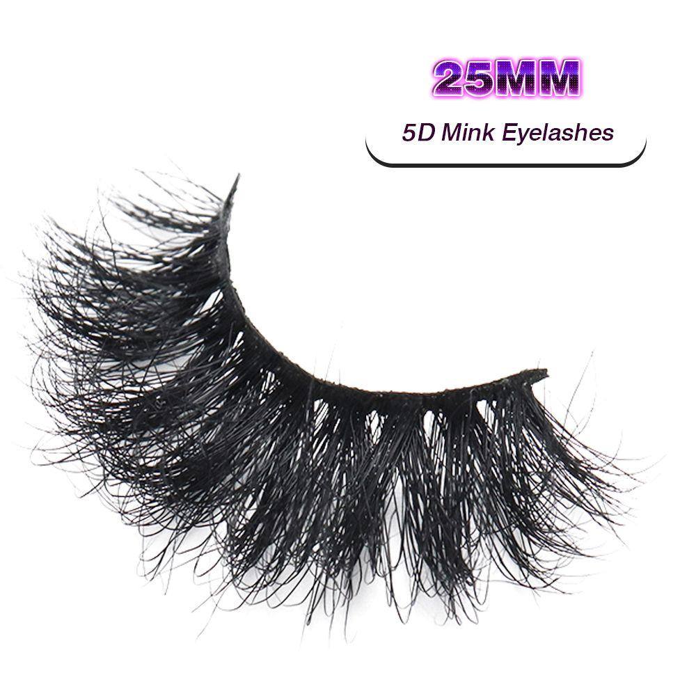 Vmae 5D 25MM Mink Eyelashes Siberian Mink Fur lashes Sexy Custom Private Label long fluffy Eyelash Soft Natural 3D Mink Eyelashes Extension