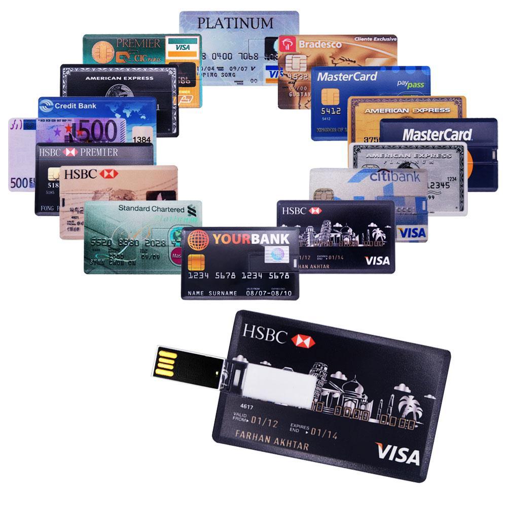 USB Flash Drive 2.0 High Speed Bank Credit Card Pendrive 4GB 8GB 16GB Pen Drive Memoria Usb Flash U Stick