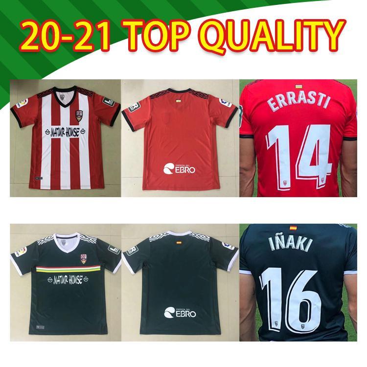 Tailândia 20 21 Ud Logroñés Camisas de futebol Andy inaki errasti Zelu Vitória 2020 2021 Logrones Camisetas de Fútbol Tailândia Camisa de futebol