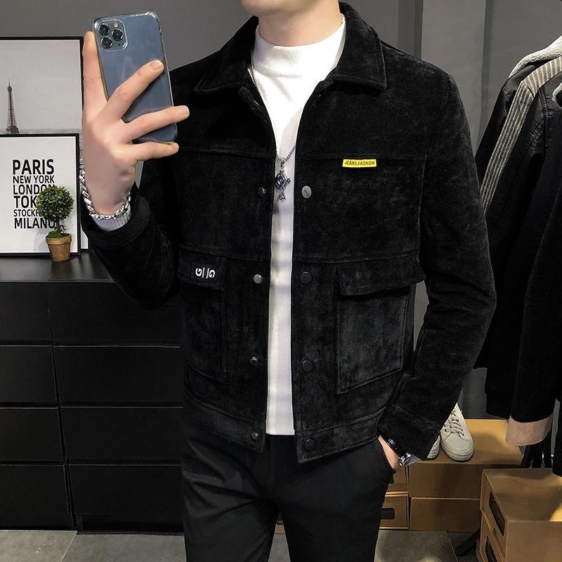 Lourd manteau de laine automne hiver 2020 hommes nouvelle grande marque de mode coréenne veste courte en laine mode pour homme vêtements pour hommes