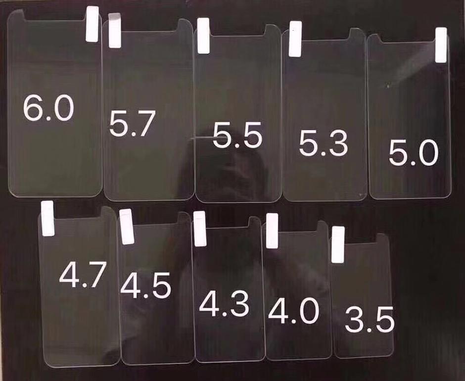3.5 Protector de pantalla de vidrio Universal 4.0 templado 4.3 4.5 4.7 5.0 5.3 5.5 5.7 6.0 pulgadas para teléfono San Star Huawe Xiaomi Z
