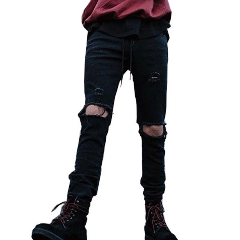 Star mode Black Jeans Homme Pantalon Slim