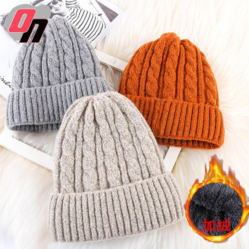 As mulheres dos homens de inverno mogno mogno mohair apontou lã quente e espessado pulôver coreano de malha chapéu