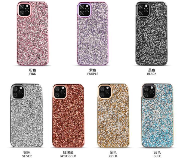 크리스마스 선물 iPhone 12 Pro 최대 XR에 대 한 다이아몬드 전화 케이스 블링 DHL에 의해 새로운 반짝이 전기 도금 다이아몬드 전화 케이스