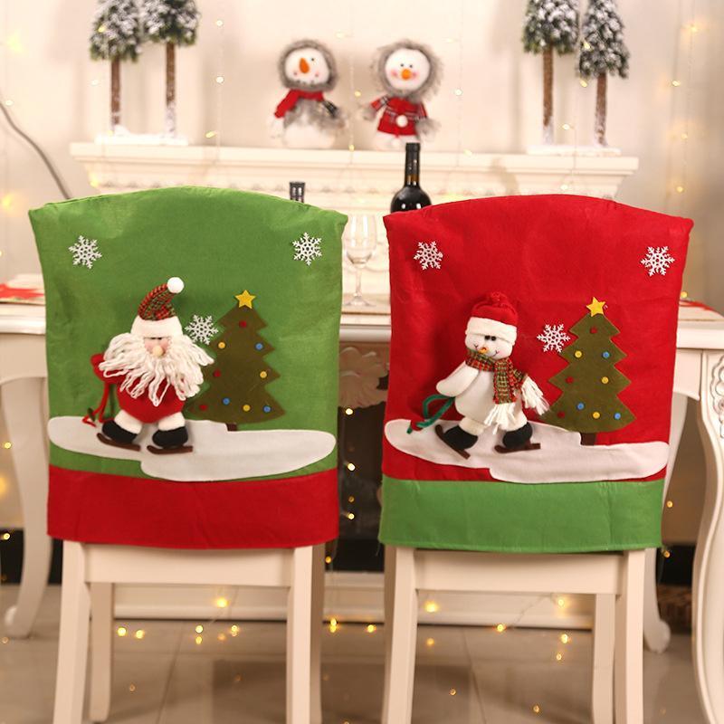 Décorations de Noël 1pcs Table Decoration Restaurant Chaise Chaise Annude Retour Ménage