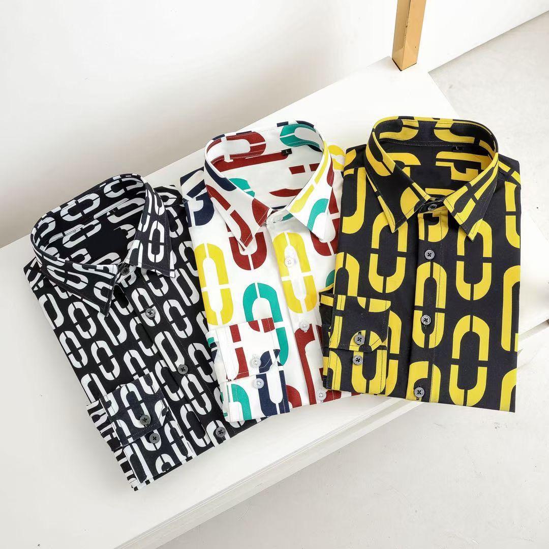 Herren Brand Hemden Designer-Shirt Französisch Paris Marke Kleidung 012 Männer langarm Hemd Hip Hop Style Hohe Qualität Baumwolle 2020 Neue Ankunft