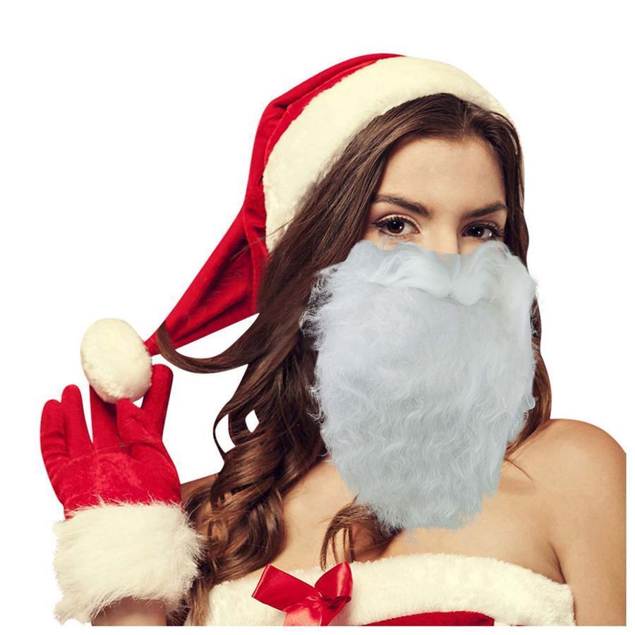 Costume de masque de visage de la barbe Santa Beard pour adultes pour Noël 2020 (taille unique) rouge nouveau DHD3491