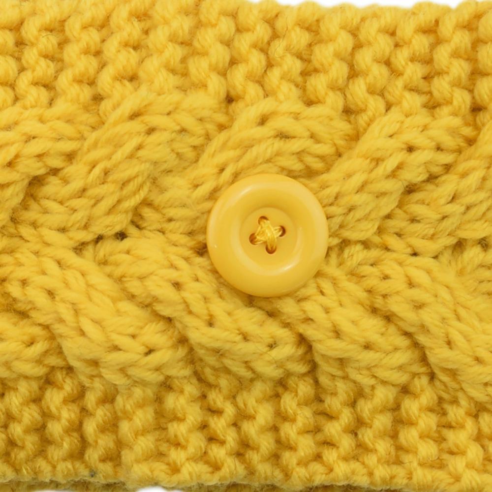 Faccia per la maschera per il viso Fascia con bottone Ear Palestra Protettiva Gym Sport Yoga Hairband Hairlace Assegno Inverno Warm Maglia Accessori per capelli GGB2439