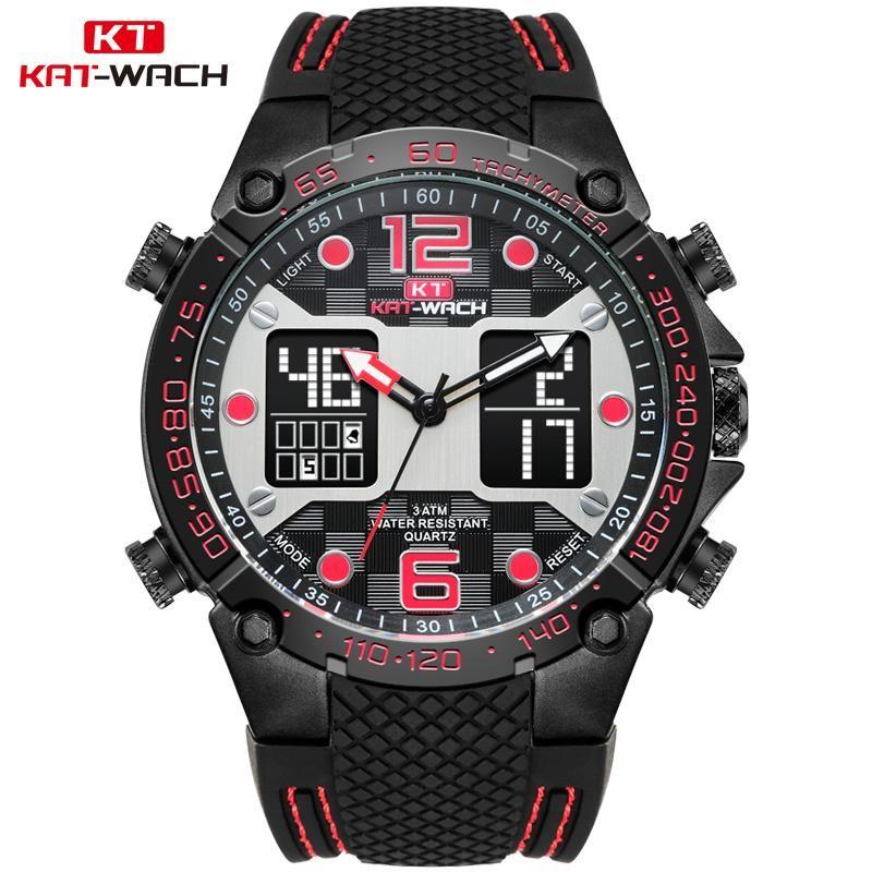 Orologio da polso Relogio Masculino 2021 Top Watch Orologi da uomo Orologi Black Gomma Band LED Polso da polso analogico Big quadrante orologio maschio