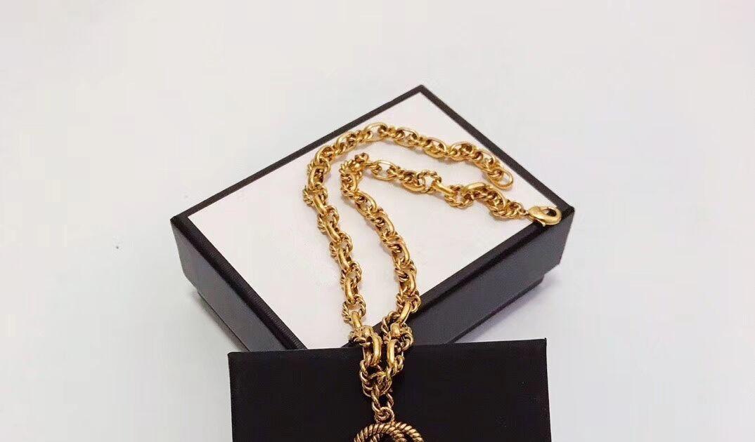 Neue hochwertige Messingmaterial Punk Halskette mit Wörtern für Mann und Frauen Anhänger Halskette Schmuck Geschenk
