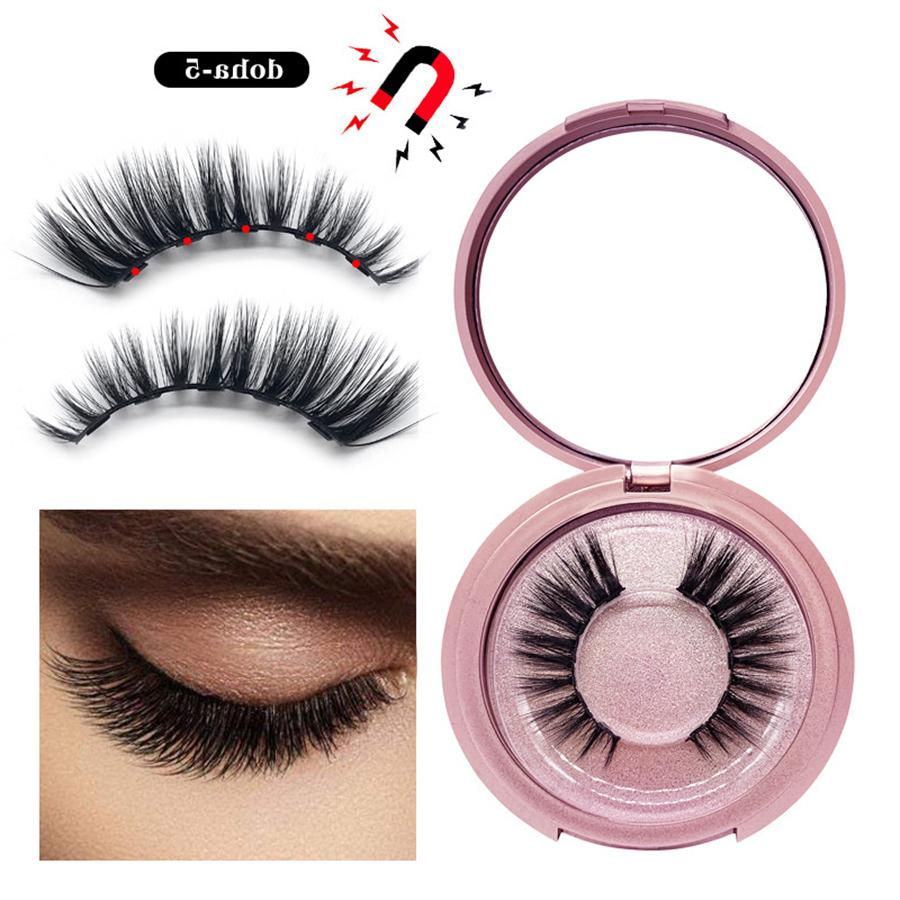 Magnetic 3D Mink Eyelashes Natural False Eyelashes Long Eyelash Extension Faux Fake Eye Lashes Makeup Tool With Box