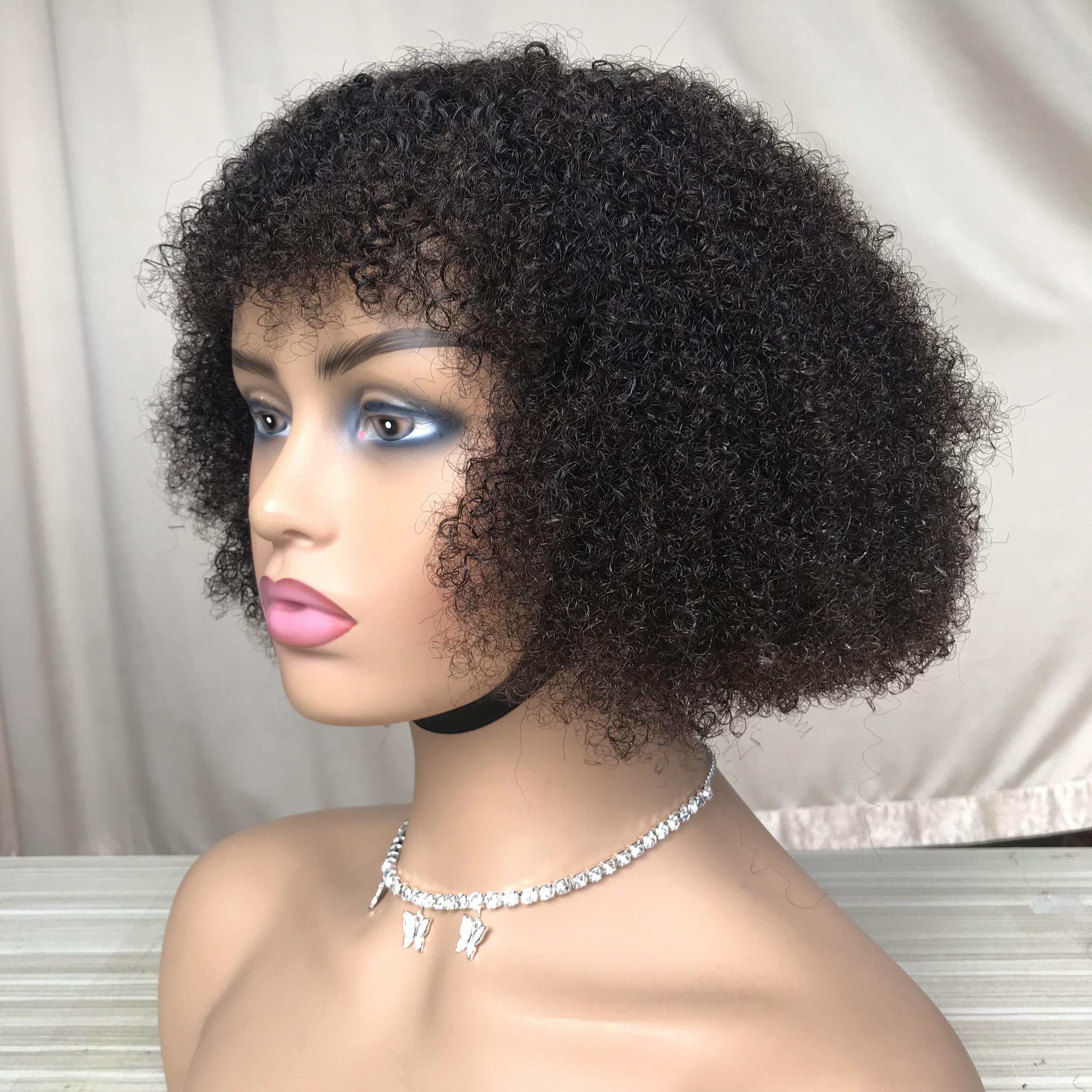 10A billig 8 Preis kinky Haarperücken Perücken Verschluss ohne Zoll lockige Qualität Human Bang sehr mrdmj