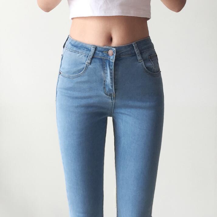 Jean skinny push up taille haute femme femme denim pantalon pantalon décontracté élastique stretch maman jeans vintage rétro grand plus taille