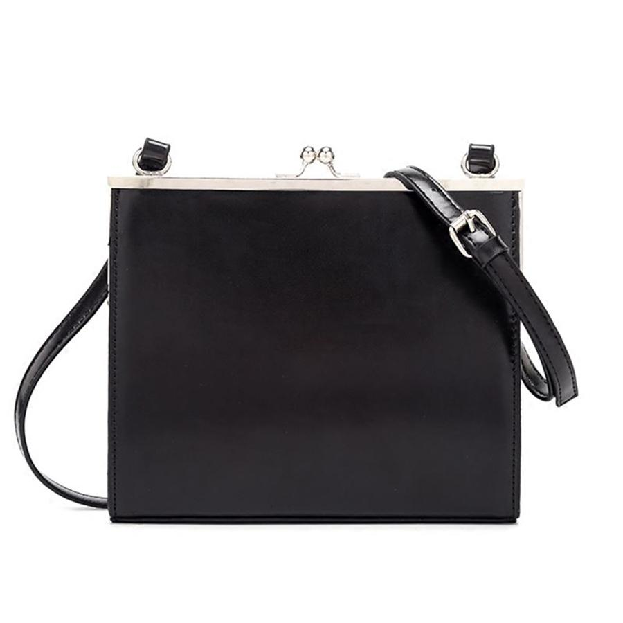 Casual Clip Women Messenger PU Leather Black 2019 Lady Shoulder Crossbody Bag Brands All-match Tote Bags Ins Purse Sac Q1118