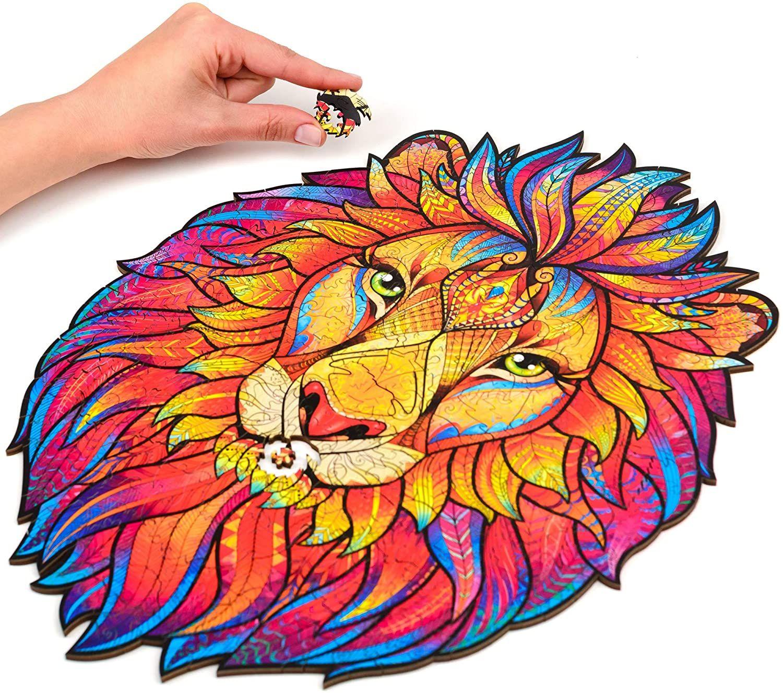 Деревянные головоломки животных головоломки загадочный лев волк сова лиса головоломки подарок для образования невероятных подарков интерактивные 101 шт.