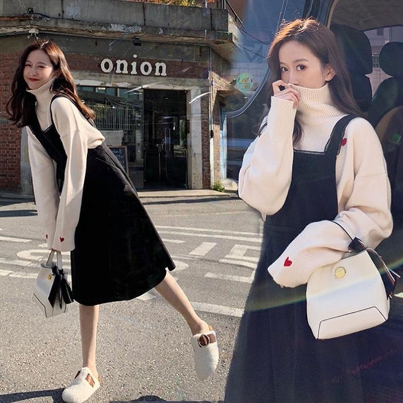 Chaoqi Brand Style Style Style Mature Wind Sling Sling Two Piece Suit Autunno Inverno 2020 Nuovo stile Abbigliamento da donna Slim Suit Suit Skirt maglione lavorato a maglia