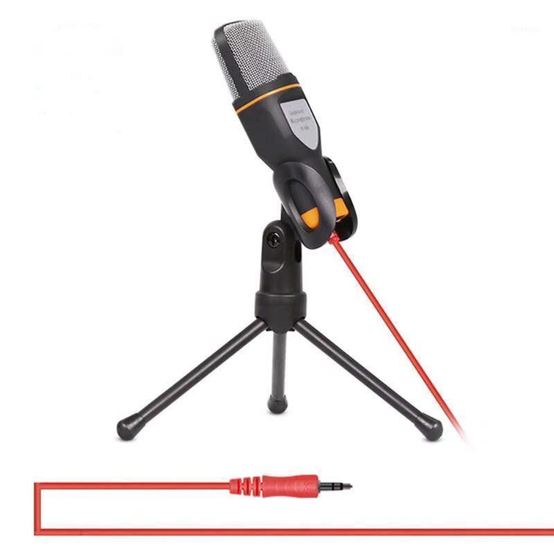 3.5mm Plug Condensador Microfone Estéreo Áudio Omnidirecional Mic Desktop Tripé para vídeo on-line Conversando Gaming Graving1