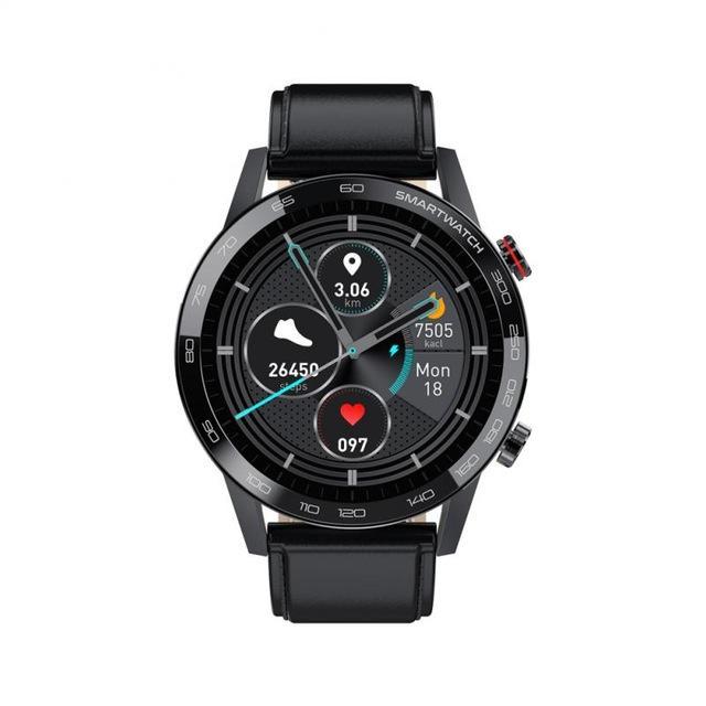 2020 NOUVEAU L16 SmartWatch Hommes IP68 Etanche Bluetooth Call 360 * 360 ECG PPG Taux de chaleur 1.3inch TFT Moniteur de nuit