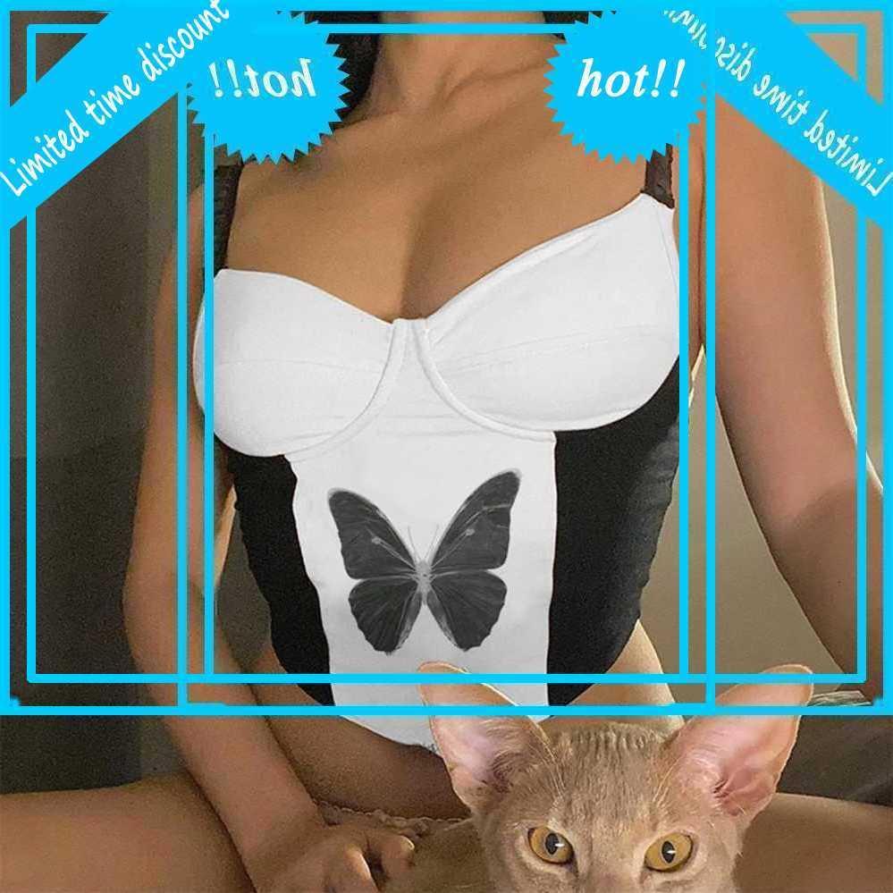Дамы VLinder Sexy Bralette Y2K Esthetic Tops Летние Mouwlless V-образные вырезывающие улица Camis Corset Triangle обрезанный феминину