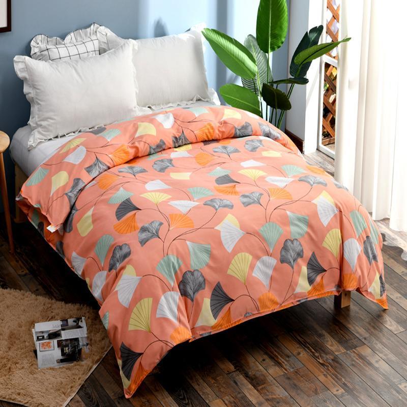 Neue Luftdurchlässige gedruckte Quiltabdeckung Bedruckte Bettbezug 21 Blumenfarbe 200 cm * 230cm Hochwertiger Japan-Stil
