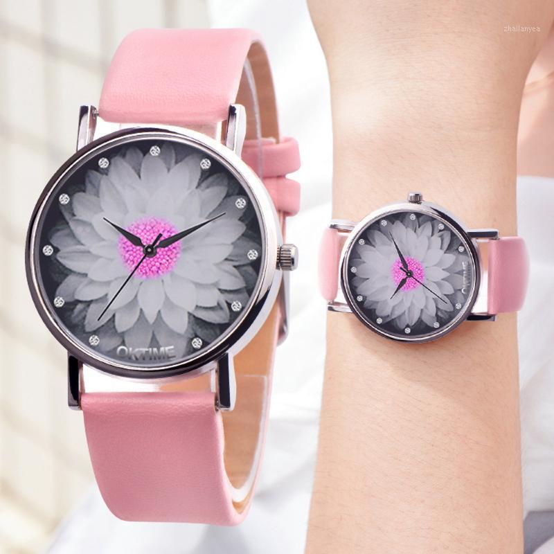 Charm Bracelets High Qualitywomen Watches Men Unisex Casual Canvas Leather Analog Quartz Watch Relogio Feminino1